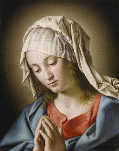 Madonna in Prayer - Giovanni Battista Salvi da Sassoferrato