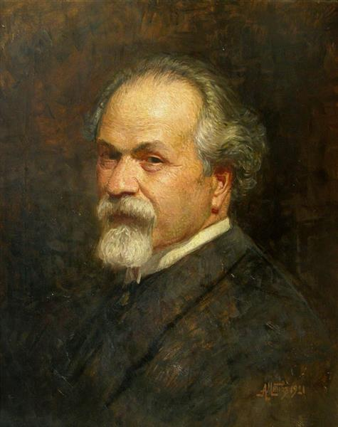 Self-portrait, 1921 - Anton Mitov