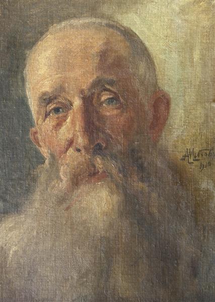 Портрет на Карл Шкорпил, 1910 - Антон Митов