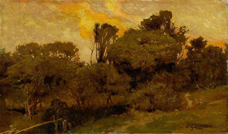 Landscape, Sunset, 1912 - Frederick George Cotman