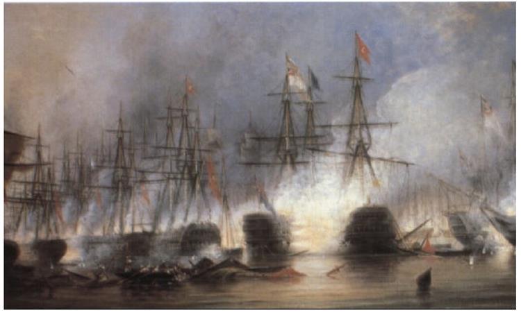 The Battle of Navarino - George Philip Reinagle