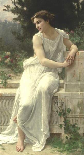 Jeune Femme De Pompeï Sur Une Terrasse - Guillaume Seignac