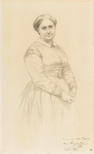 Mme Charles Foucques Duparc, Née Amélie De Guaita, 1867 - Henri Regnault