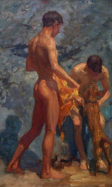 Study of Bathing Boys, 1912 - Henry Scott Tuke