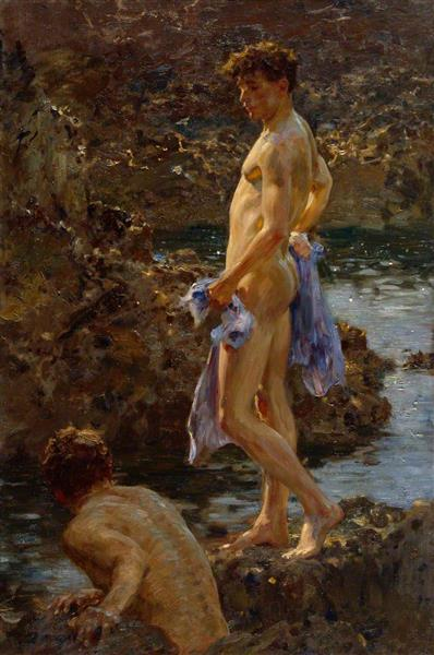 A Bathing Group, 1914 - 亨里·斯戈特·图克