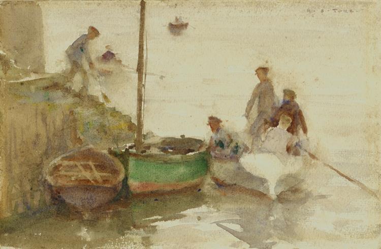 At the Quay - Henry Scott Tuke