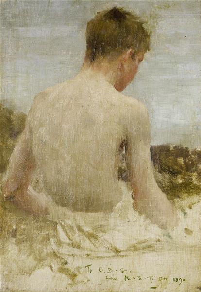 Back of a Boy Bather - Henry Scott Tuke