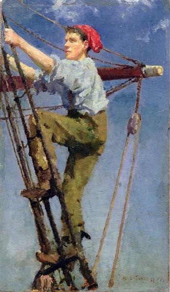 Going Aloft - Henry Scott Tuke