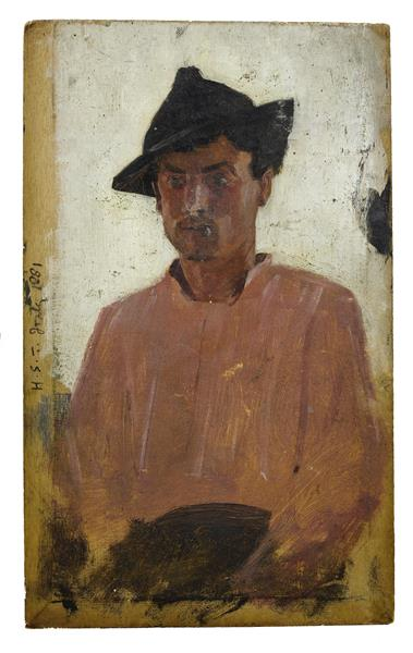 Italian Man with Hat - Henry Scott Tuke