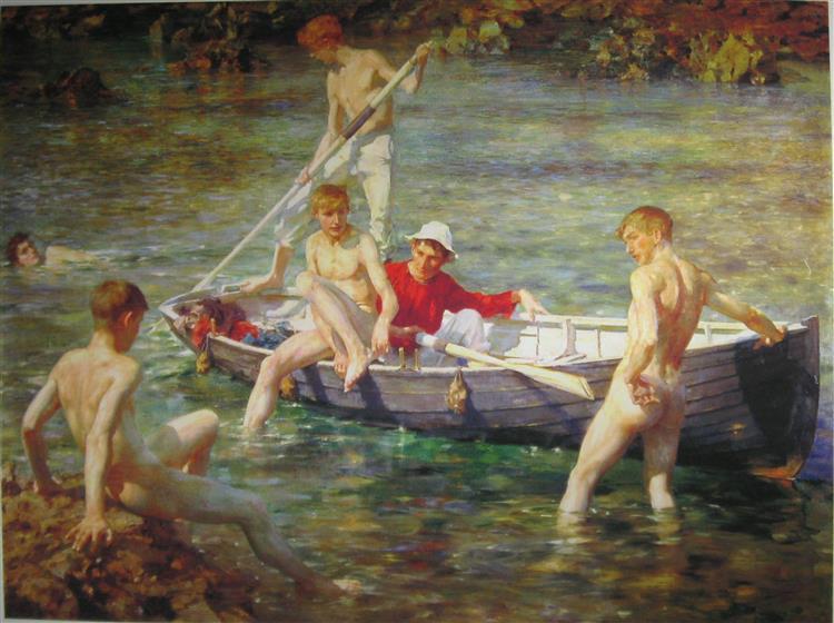 Ruby, gold and malachite, 1901 - Henry Scott Tuke