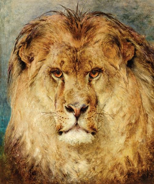 A Lion's Head, 1878 - Heywood Hardy