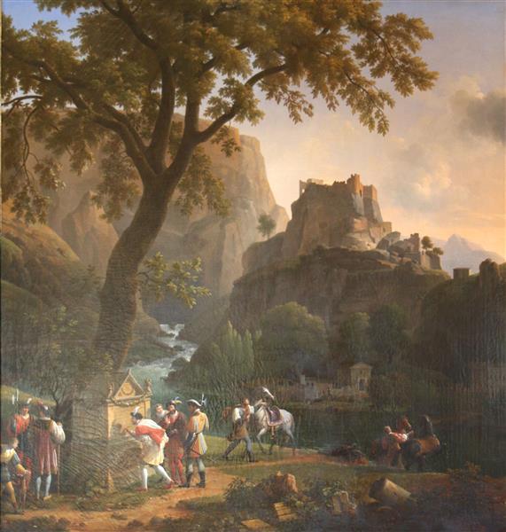 François Ier À La Fontaine De Vaucluse - Jean-Joseph-Xavier Bidauld
