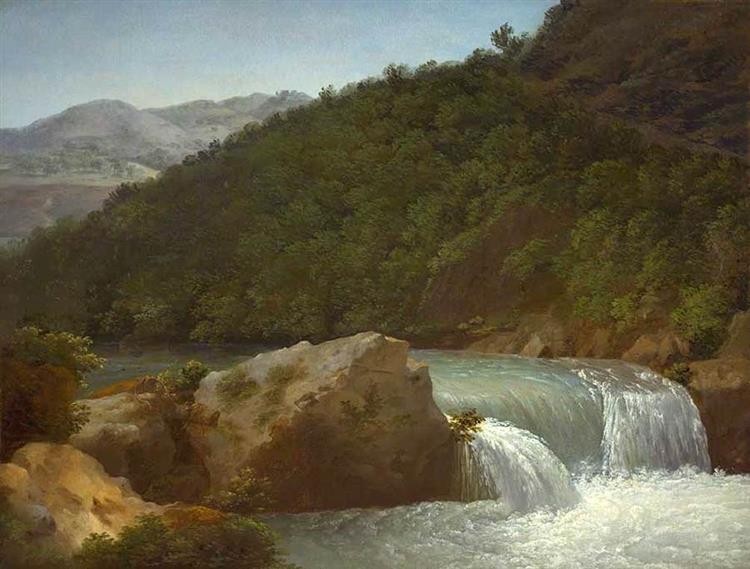 View of the Cascade of the Gorge near Allevard - Jean-Joseph-Xavier Bidauld