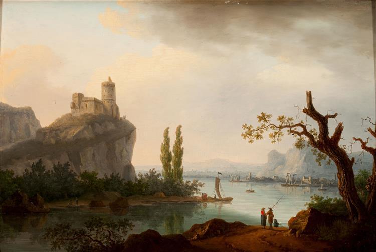 Rocky Coastline with Castle - Jean-Joseph-Xavier Bidauld