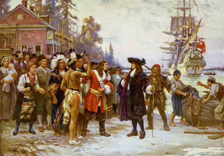 The Landing of William Penn - Jean Leon Gerome Ferris