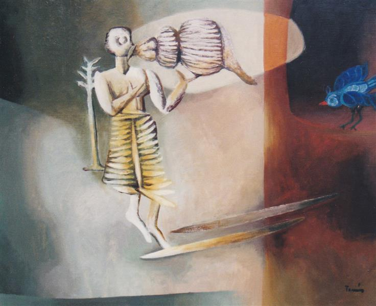 Picture with a Shell and Blue Bird, 1984 - TAMÁS, Ervin