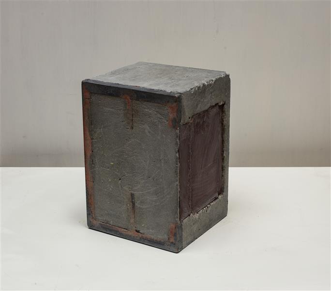 'Stump' - abstract sculpture art in concrete & steel by Carlos Granger, 1999 - Carlos Granger