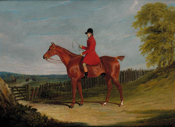 Equestrian Portrait of the 12th Earl of Eglinton and Winton in Hunting Pinks - John Frederick Herring Sr.