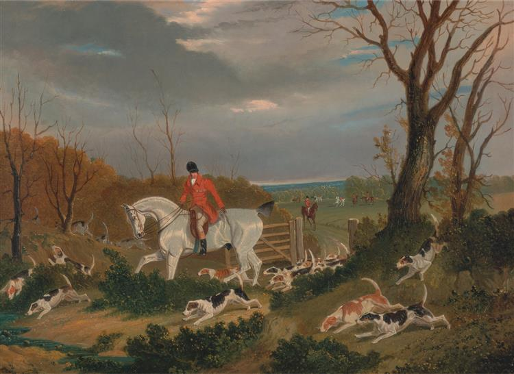 The Suffolk Hunt- Going to Cover near Herringswell, 1833 - John Frederick Herring Sr.