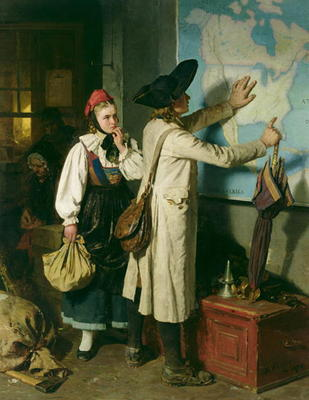 The Emigrants - Berthold  Woltze