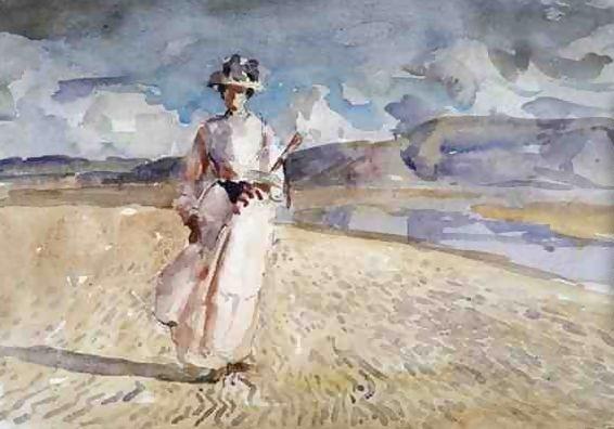Walking on Sand, c.1910 - Henry Tonks