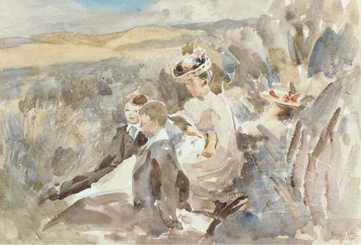 Resting Among the Sand Hills - Henry Tonks