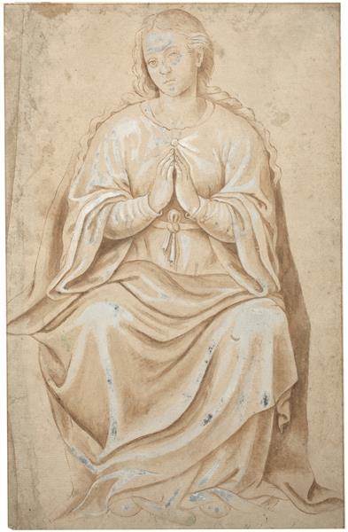 La Virgen, Sedente, c.1555 - Хуан де Хуанес
