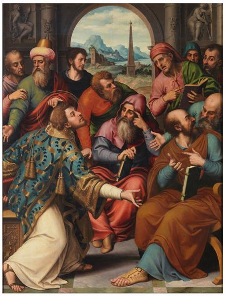 Saint Stephen in the synagogue, 1555 - 1562 - Juan de Juanes