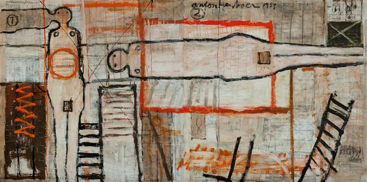 Zonder Titel, 1959 - Anton Heyboer