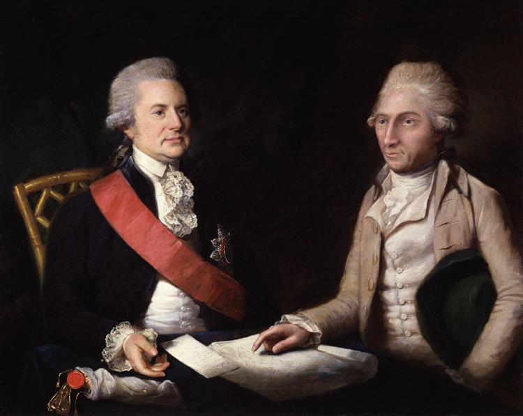 George Macartney, 1st Earl Macartney; Sir George Leonard Staunton, 1st Bt, 1785 - Lemuel Francis Abbott