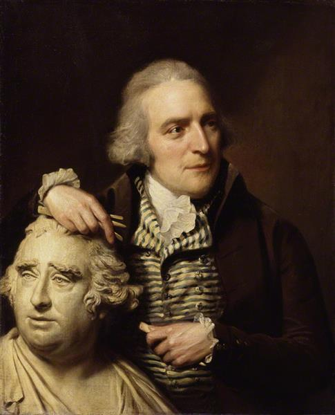 Portrait of Joseph Nollekens with His Bust of Charles James Fox - Lemuel Francis Abbott