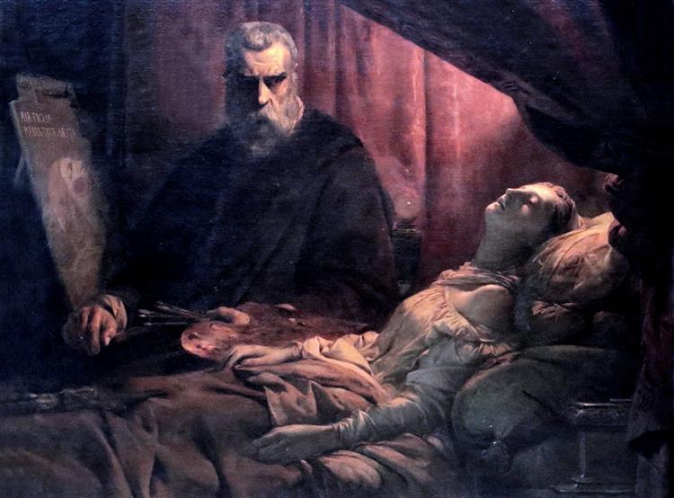 Tintoretto Painting His Dead Daughter - Léon Cogniet