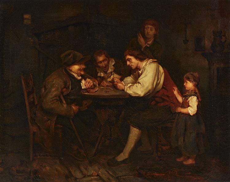 Die Spieler, 1853 - Ludwig Knaus