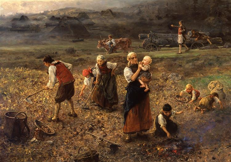 Potato Harvest, 1889 - Ludwig Knaus