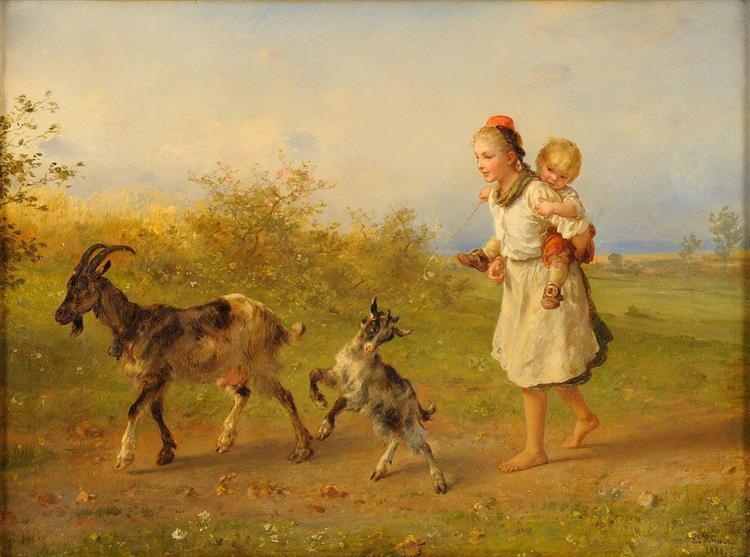 Mädchen Aus Der Schwalm, 1886 - Людвиг Кнаус