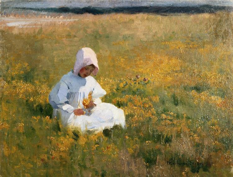 In a Field of Buttercups - Marianne Stokes