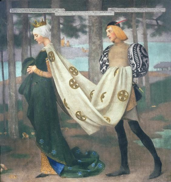 The Queen and the Page - Marianne Stokes