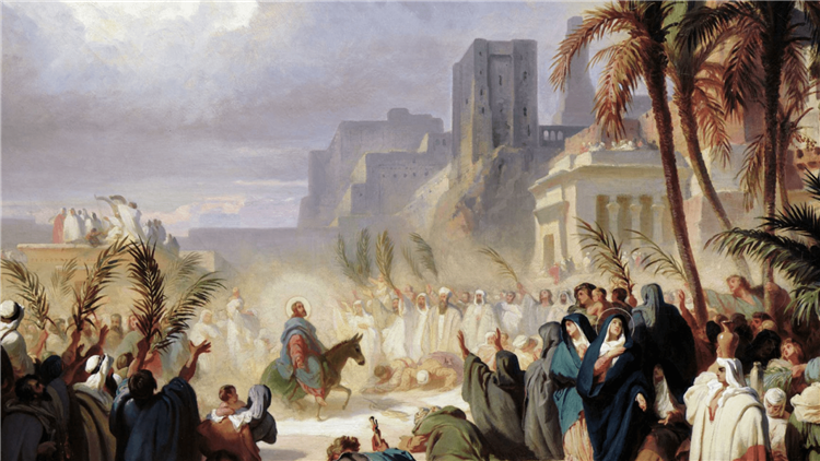 Christ's triumphal entry into Jerusalem - Félix Louis Leullier