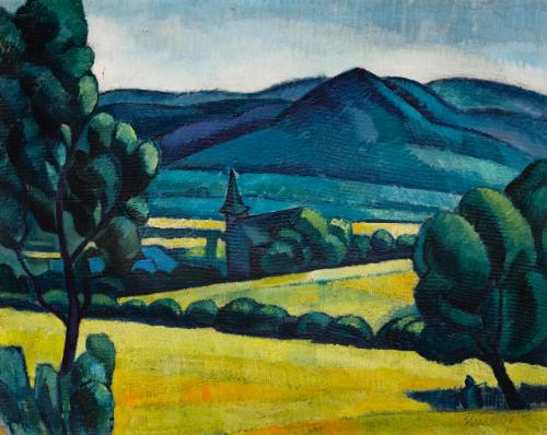 Landscape, c.1910 - Kmetty János