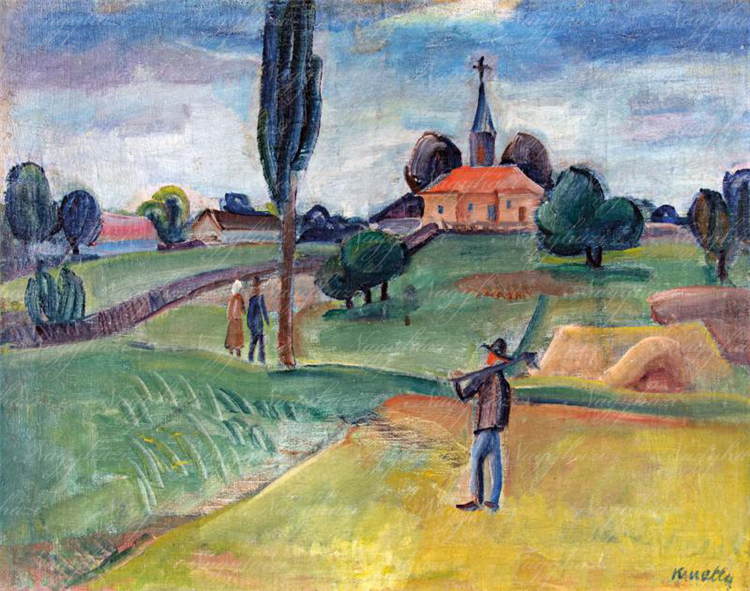 Landscape, c.1930 - Kmetty János