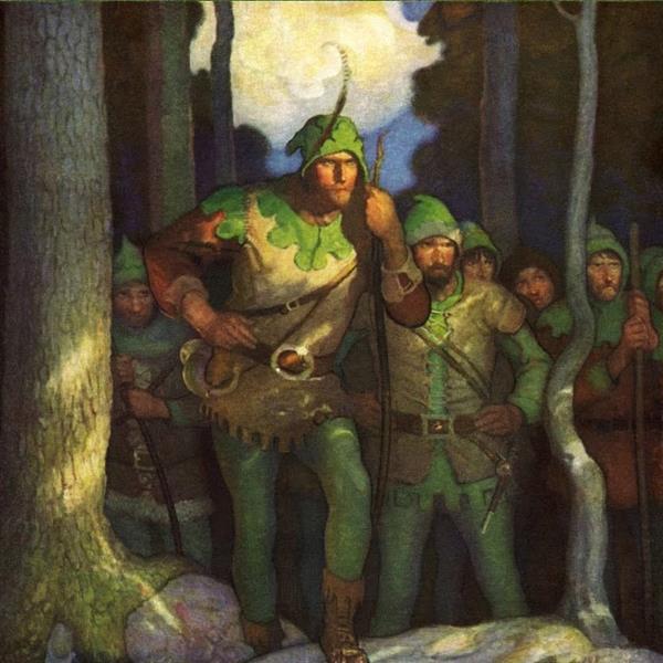 NCWyethRobinHoodCoverIllustration - N.C. Wyeth