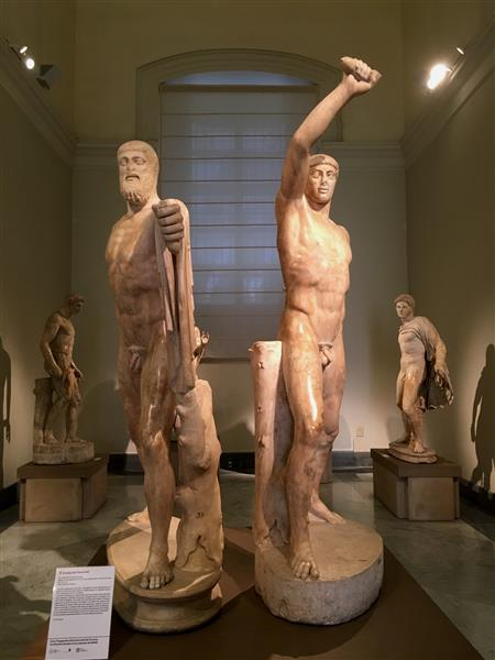 The Tyrannicides, by Antenor, c.510 BC - Ancient Greek Painting and Sculpture