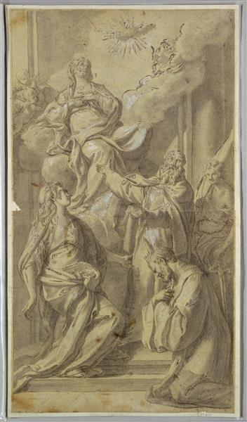 Madonna and Saints, c.1730 - Sebastiano Conca