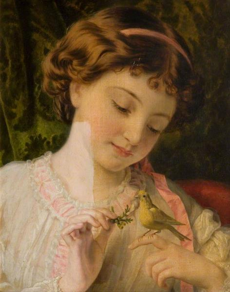 Pet Canary - Sophie Gengembre Anderson