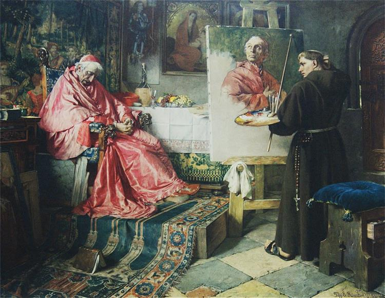The Cardinal's Portrait - Toby Edward Rosenthal