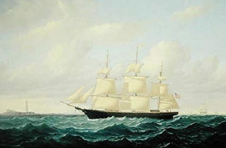 'Dashing Wave' Clipper Ship off Boston Light, 1855 - William Bradford