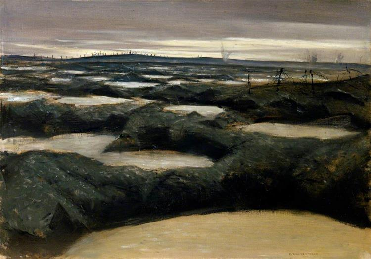 After a Push, 1917 - C. R. W. Nevinson