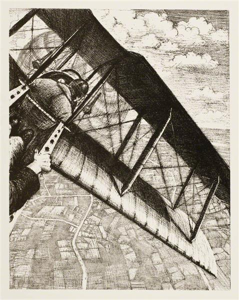 Banking at 4,000 Feet, 1917 - C. R. W. Nevinson