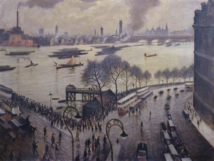 Blackfriars Bridge, London, c.1927 - C. R. W. Nevinson