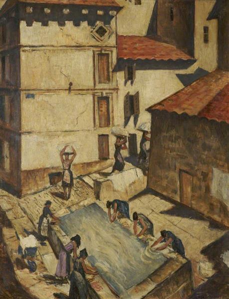 Spanish Women Washing - C. R. W. Nevinson